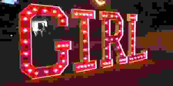 Gender reveal party Girl marquee letters Baby shower party decorations