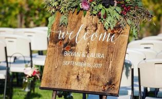 wedding welcome sign rental, wedding rentals Sacramento, wedding sign rentals,