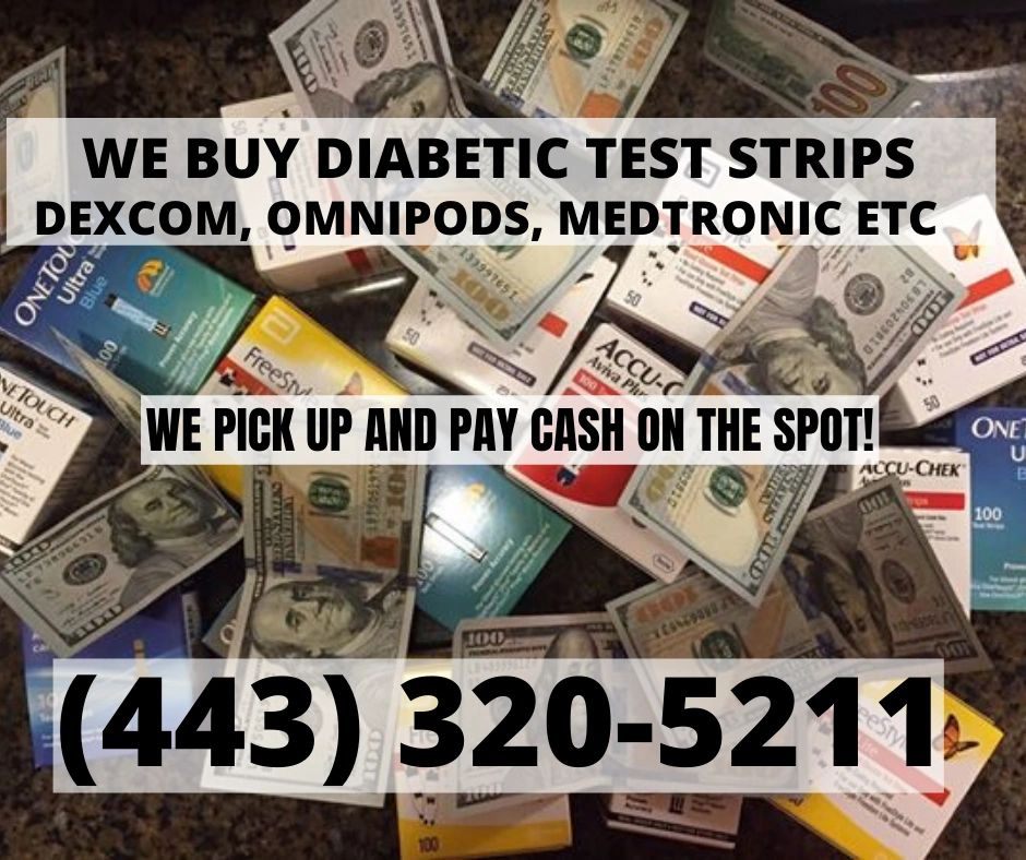 Cash for diabetic test strips and other supplies. Local pick up in maryland of dexcom G6.