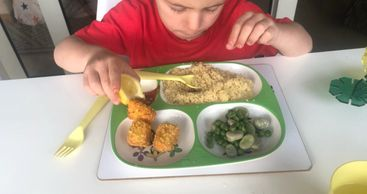 Teach your kids t oenjoy their fish and get their important Omega 3's.  These simple, salmon nuggets