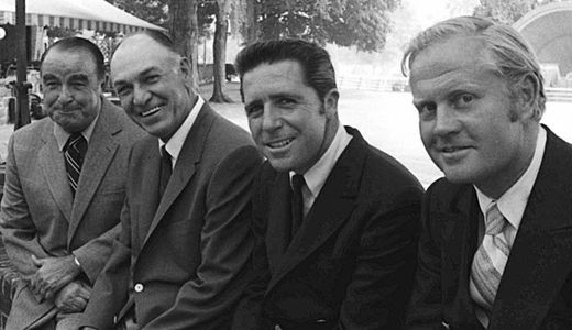 "Sarazen. Hogan, Player & Nicklaus. Missing is Tiger. -- All winners of ""Career Grand Slam!"""