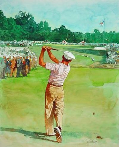 "Famous ""1 Iron"" -- 18th Hole/ ""Miracle at Merion""   MAJOR  CHAMPIONSHIP in 1950! --  A. Buttram"