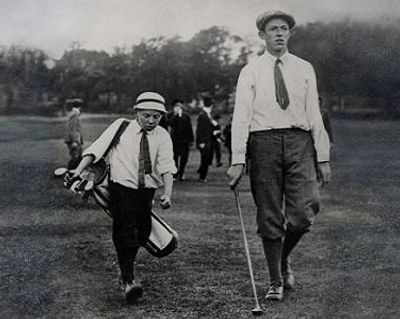 "Francis Ouimet & Eddie Lowery on their way to winning the 1913  US OPEN. /""THE RIGHT STUFF"""