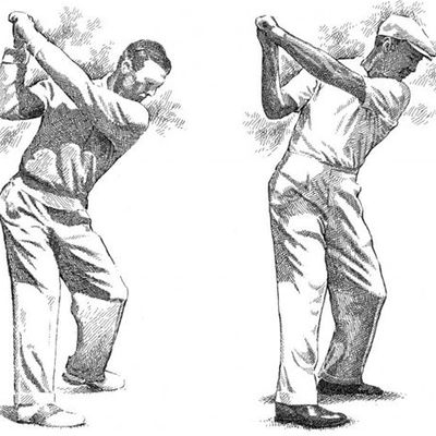 "BACK RISES To 60 (1957) & Lead Arm FLATTENS To 30. NOTE LEAD LEG @ ""70""  -- See GOLF WINDOW Below"