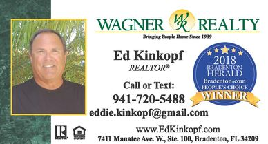 Contact information for Ed Kinkopf, Realtor in Manatee County Florida