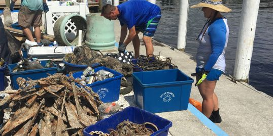 Reef and Beach Clean up by Suncoast Aqua Ventures