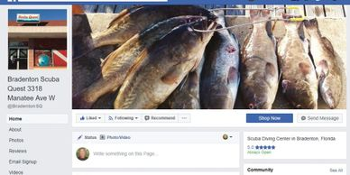 Scuba Quest Bradenton Facebook page