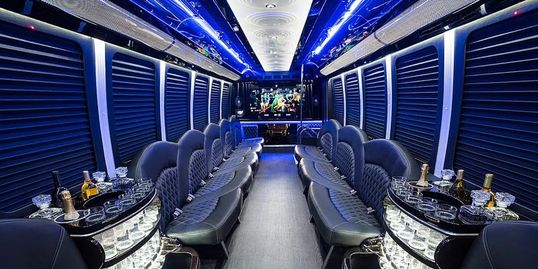 Party bus limousine service, party bus limo rental, limo party bus, limousine party bus,