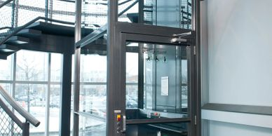 Commercial wheelchair lift, wheelchair lift, vertical platform lift, savaria, staying at home