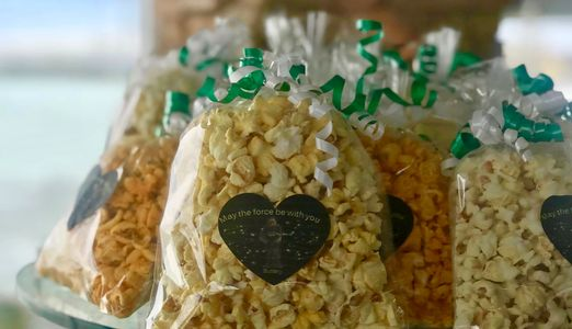 "Our ""May the Force Be With You"" Popcorn Favors for a Star Wars Themed Wedding!"