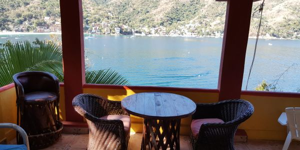 The best view of the bay of yelapa is undoubtedly from Casa Bahia Bonita Hotel.