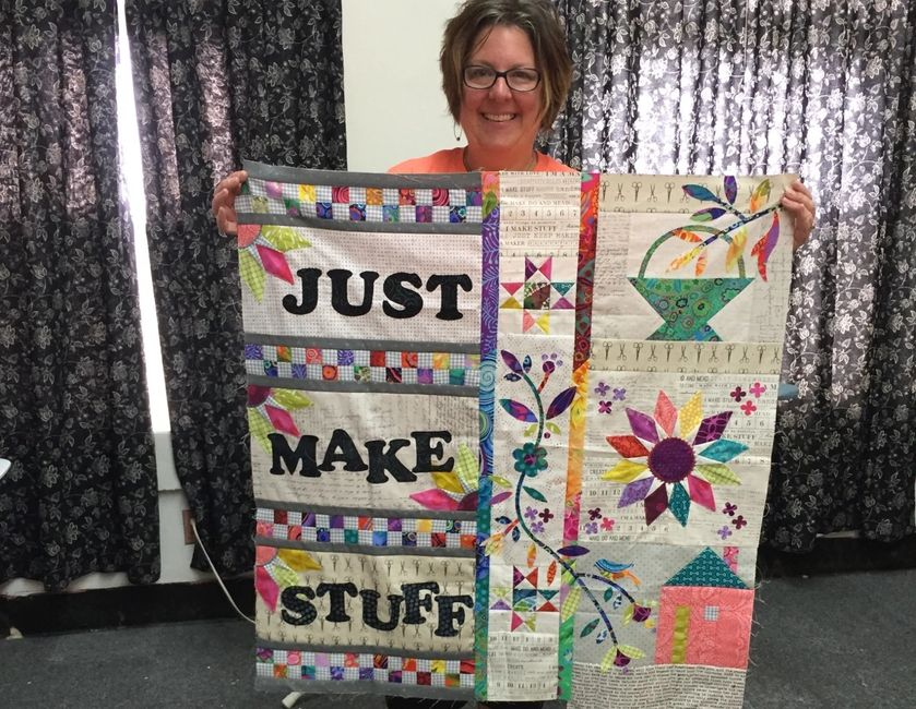 Just make stuff by Lizard Creek Quilting. using AccuQuilt dies designed by Edyta Sitar