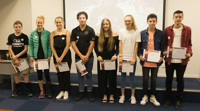 2018 Race to the Brewery Scholarship recipients.