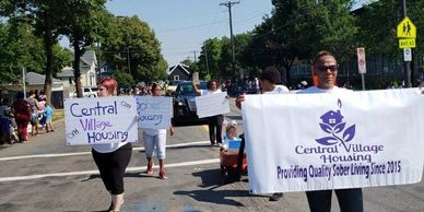 Central Village Housing Event at Parade Marching for Sober Lives