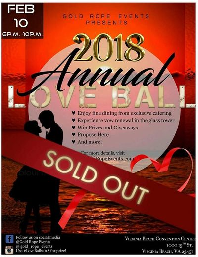 Love Ball 2017 2018 2019 2020 2021 Vow Renewal Valentines Day Prizes Events in Hampton Roads DC MD