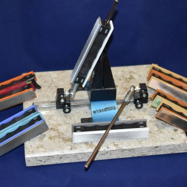 Wicked Edge sharpening available on most knives in stock.