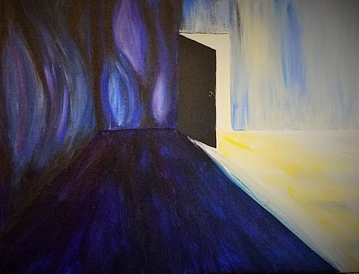 Mental Health and Mental Illness Image, psychotic break, walls breathing. By Emily Strickland (c).
