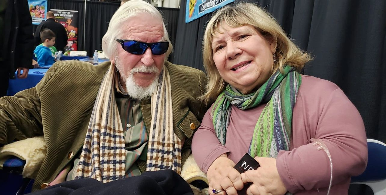 Lydia with Caroll Spinney
