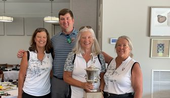 Our ProLady winning team of Lenore Allen, Copeland West, Janis Croft (Captain) and Anita Kommnick
