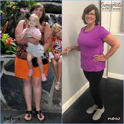 Lee Ann Lacey's Transformation Tuesday post from November 27, 2018.