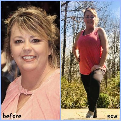 Angie Carr Transformation Tuesday post on February 26, 2019.