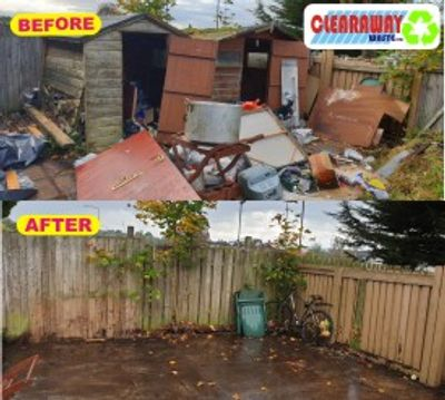 we can clear out old and dilapidated garage and sheds and dismantle and remove them leaving site tidy. We cover Edinburgh West Lothian & wishaw are.