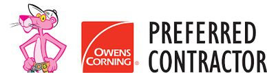 We are a Owens Corning preferred contractor.