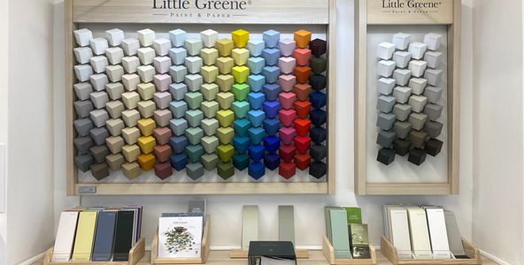 Little greene paint company wallpaper paint Curtains nets blind shutters chelmsford