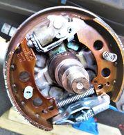 Brake, brake shoe, brake lining, brake pad, spring, bolt, washer, split pin, brake drum, alko