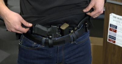 Concealed Carry Weapon inside the waistband; appendix carry.