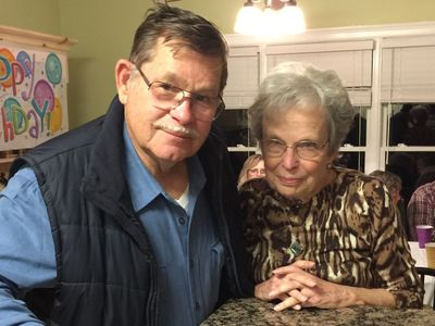 Kyle and Mary Alice Lynn celebrating his 80th birthday in November 2016