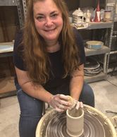Natalie Thomas, pottery artist and owner of Blue Mountain Pottery, has been throwing pottery for alm