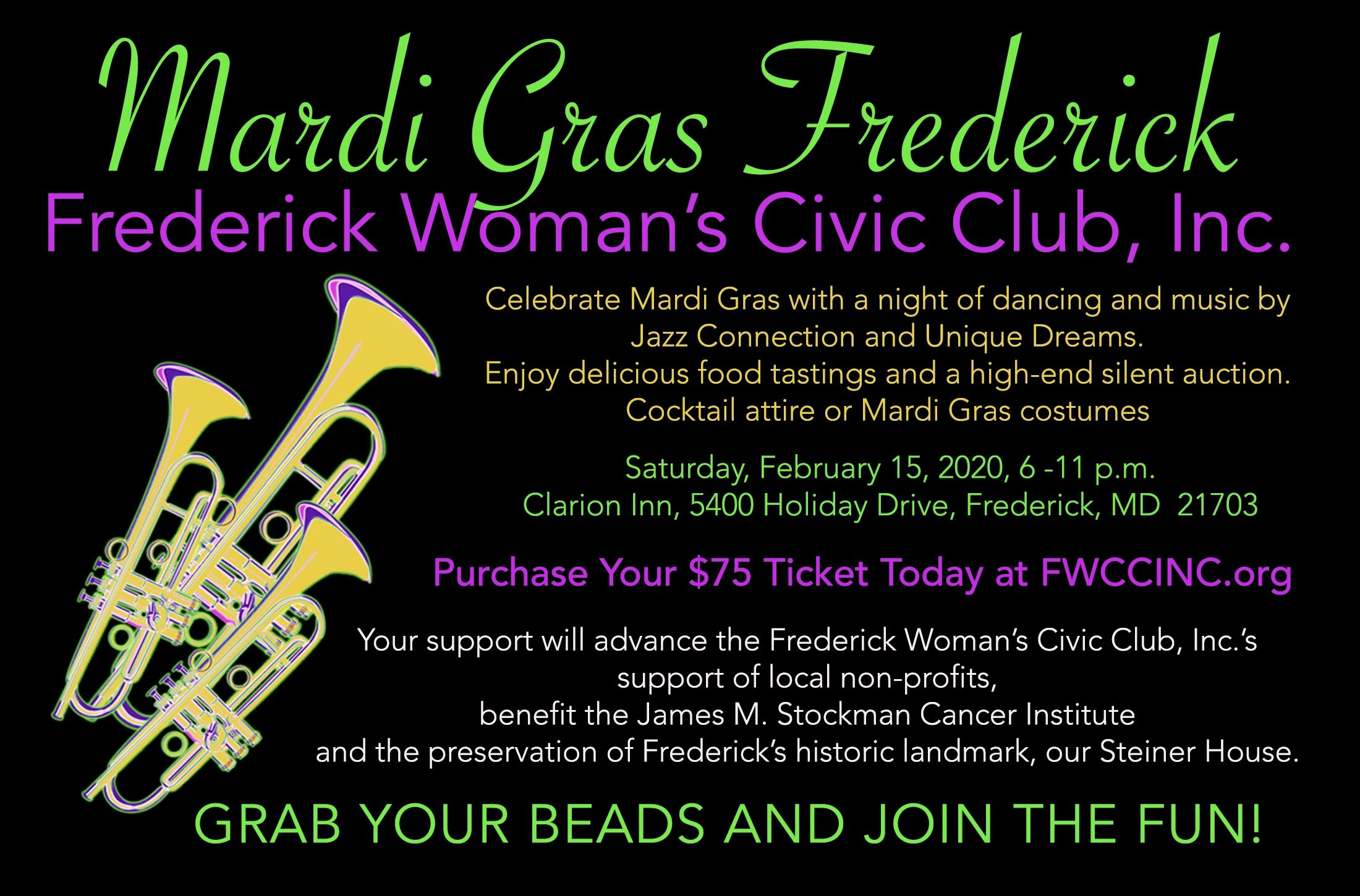 Go to EVENTS/Mardi Gras for more information.