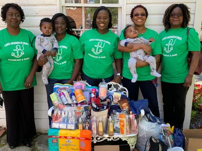 "A huge thank you to ""Ladies Anchored in Christ"" for their Heartly House contributions."