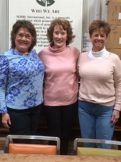 Our members volunteer  with SERRV to help defray costs and ensure proceeds to the crafters.