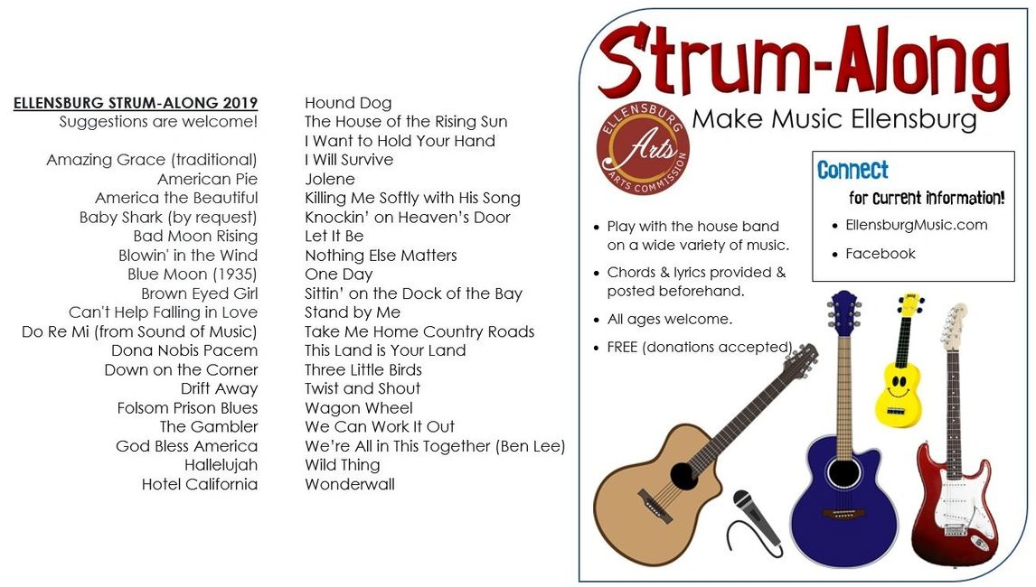 Ellensburg Strum-Along event and list of tunes