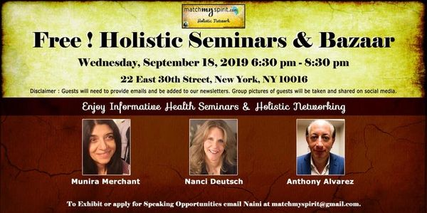 Wellness events in NYC - matchmsypirit free holistic events in New York