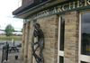 The Middleton Archer on the pub of the same name. Sir Richard Assheton led the Middleton Archers to victory in the battle at Flodden Field in 1513
