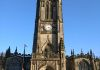 Manchester Cathedral. Built 1421-1882. Tower height 135ft