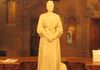 Enriqueta Rylands statue in the Historic Reading Room. This statue is facing her husband John at the other end of the room