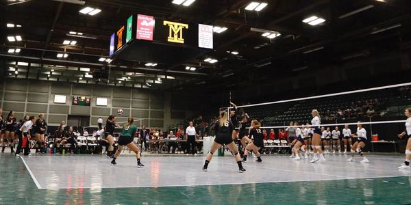 Montana Tech Volleyball Tournament Playing On Snapsports Volleyball  Surface in Butte Montana