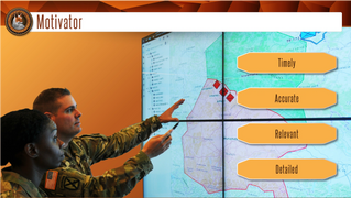 Learning module screen design for a course in the U. S. Army.