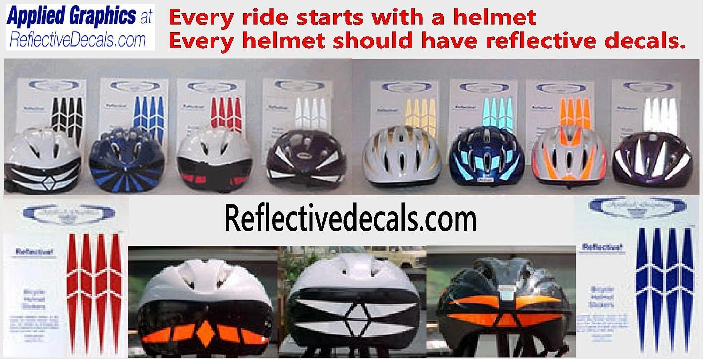 Reflector Flock Motorcycle Decal Kit Bike Helmet Bird Decal Kit  #802R Flying Birds Helmet Sticker Kit Reflective Bird Decals
