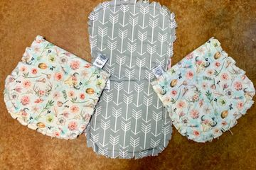 Hand made rag style burp diapers