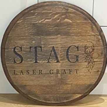 whisky barrel lid design engraved