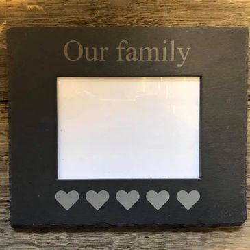 Personalised slate picture frame