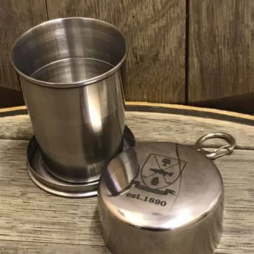 engraved collapsible dram cup