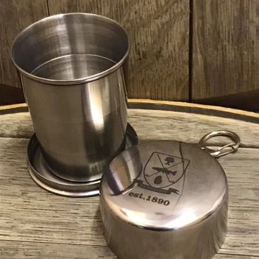 Collapsible / expandable stainless steel drinking cup