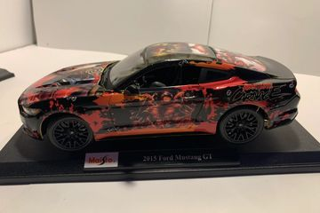 This is a Hand Wrapped 1:18 Scale Carnage Deadpool Mustang Gt
