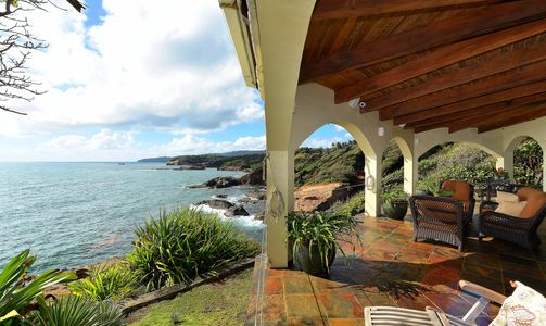 Dominica Oceanfront Villa.  Panoramic sea & coastline views. Near Douglas-Charles Airport